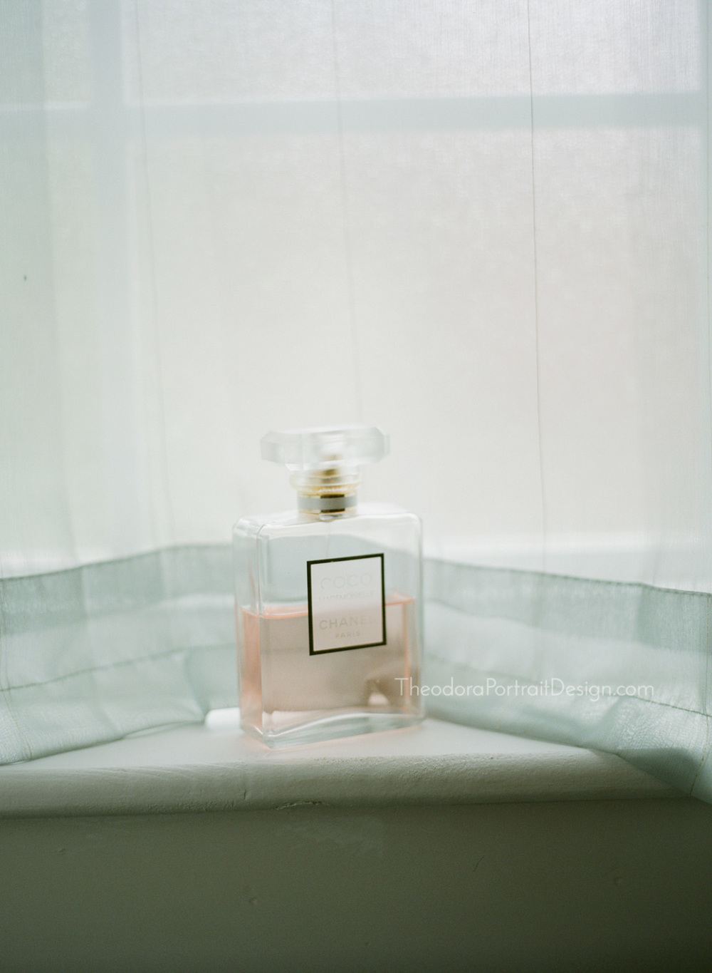 Chanel perfume   www.TheodoraPortraitDesign.com   film wedding photography
