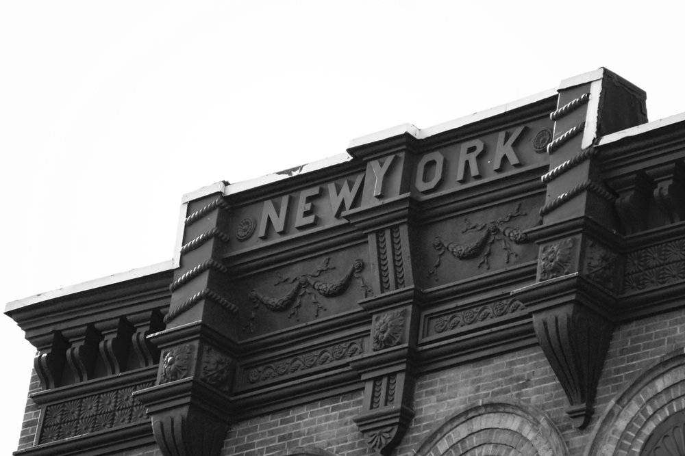 Black and White New York Building Photography