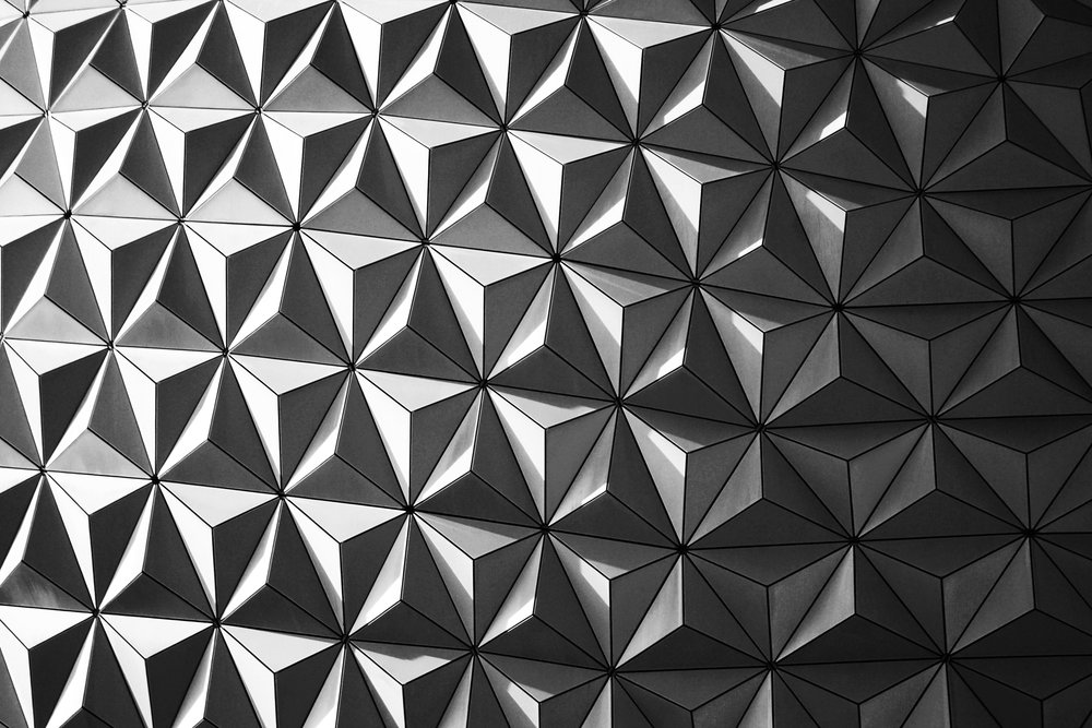 Abstract Black and White Epcot Photograph
