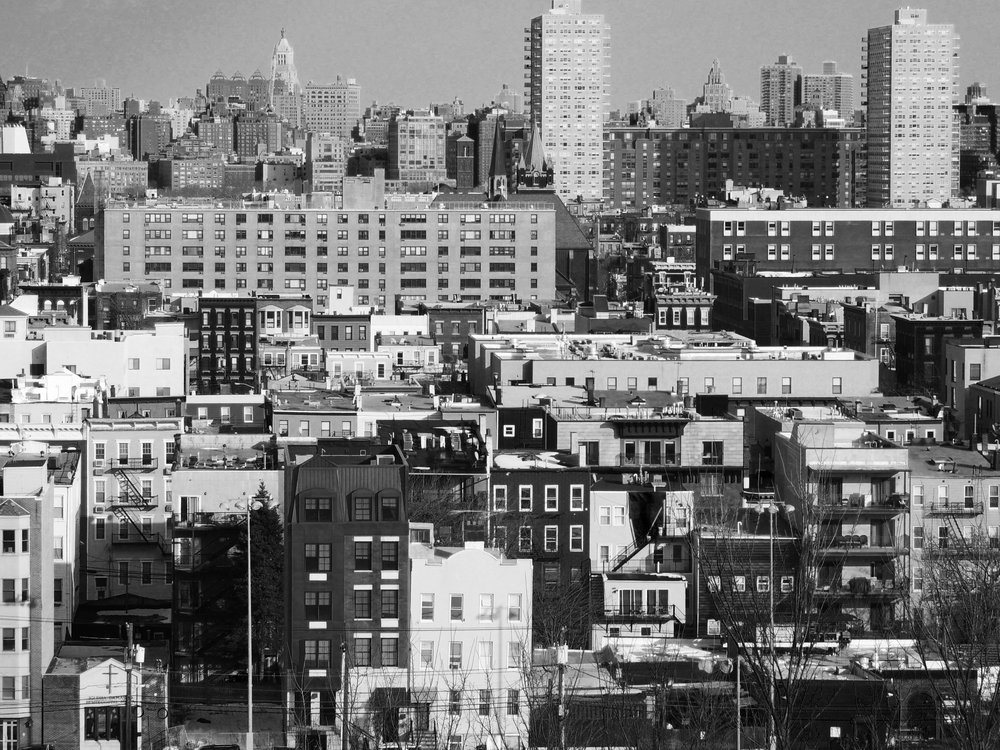 Black and White Hoboken View Photography