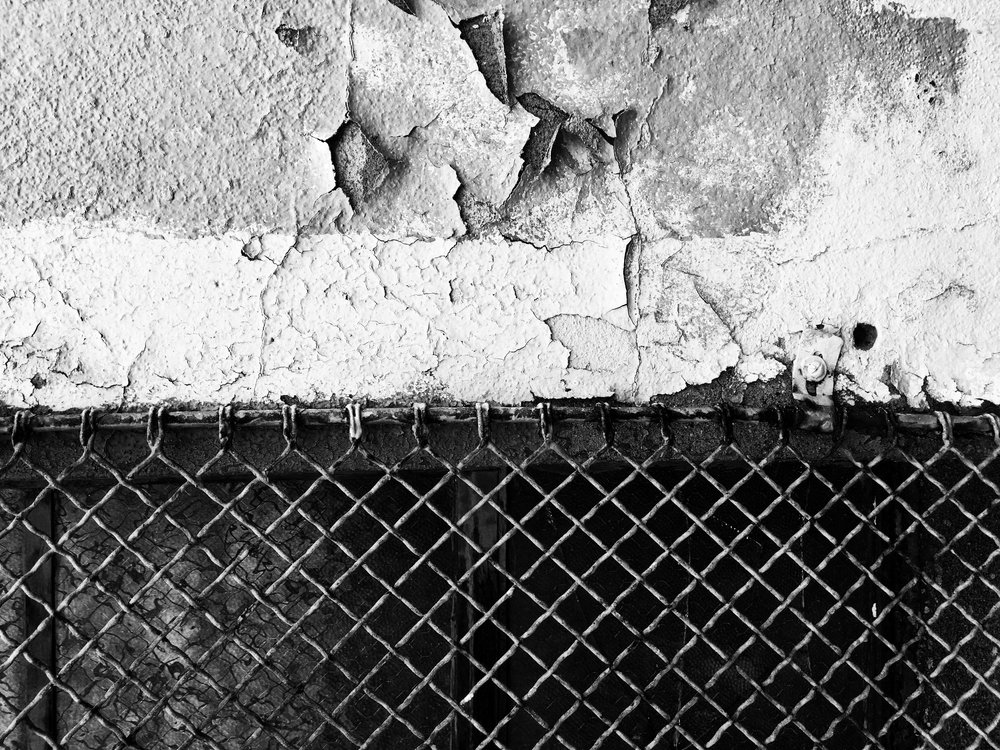 Black and White Abstract Urban Texture Photograph
