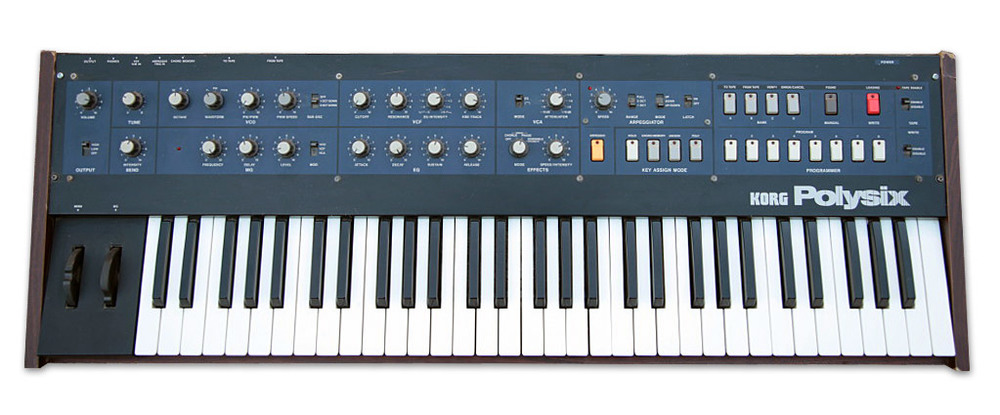 The Korg PolySix was released in 1981 and boasts an advanced arpeggiator.
