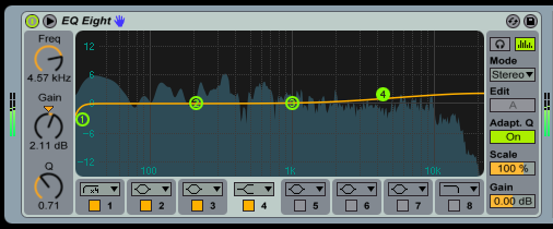 Subtle EQ tweaks are more transparent and can help 'glue' your buss tracks together.