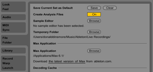 Save your Live set as a default template in Ableton's Preference window.