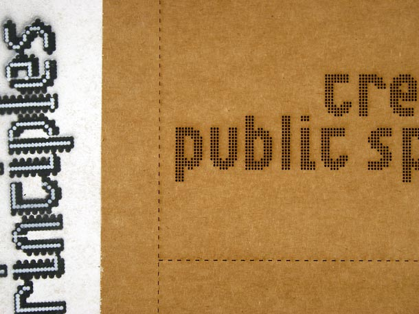 detail - perforated poster for distributed messaging