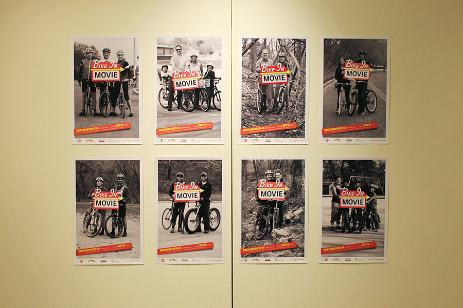 bike in movie poster series. collaboration with michael jumper and ben hlavacek.