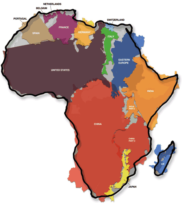africa compared to much of the world.