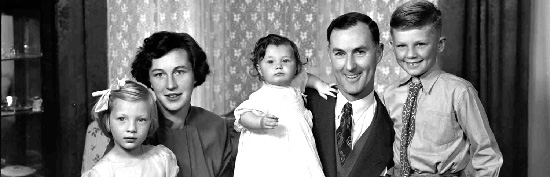 Dr A Keech and family