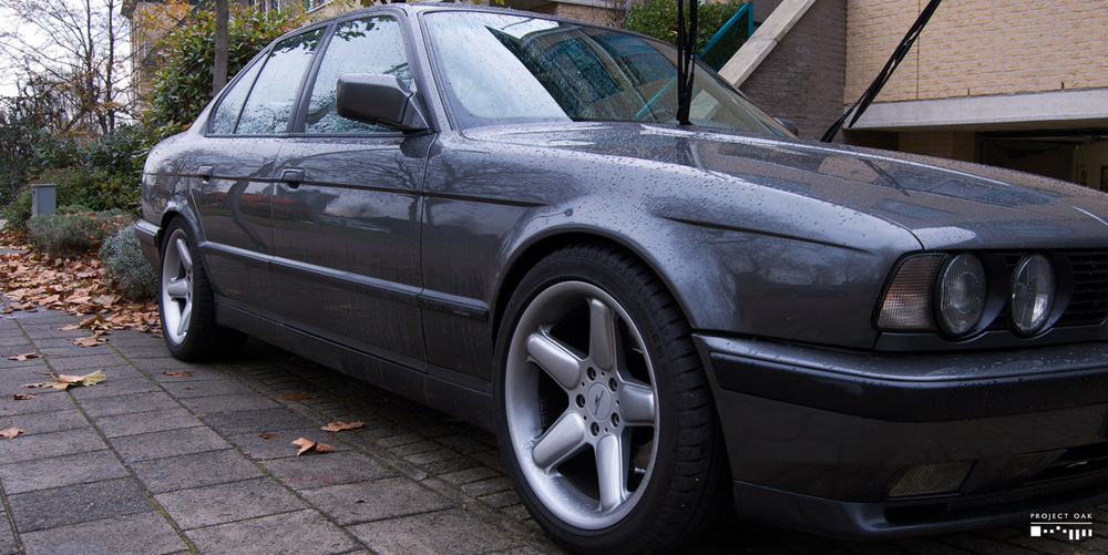 The E34 M5 on arrival.