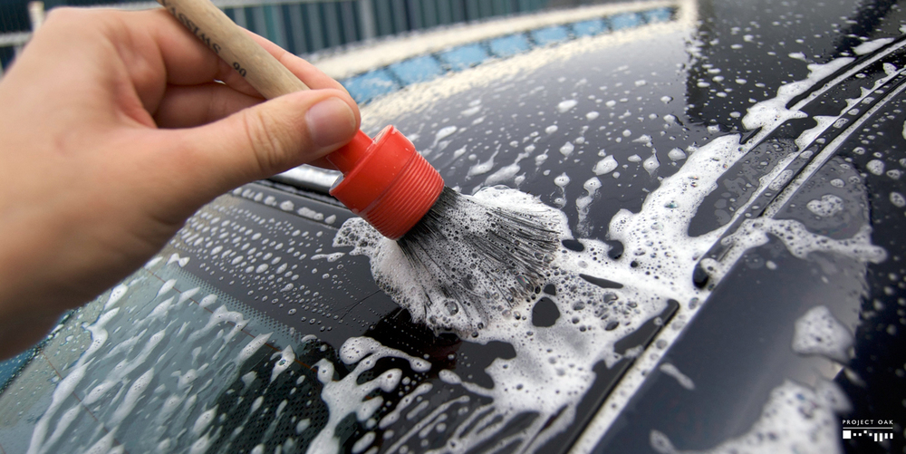 All rain channels, door jambs and nooks and cranies are cleaned with a soft bristle brush, leaving the car clean on every detail.