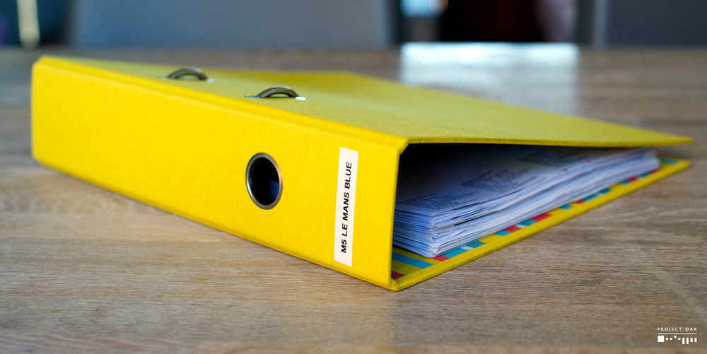 The Maintenance Folder, where all records of maintenance expenses on the M5 are safely kept.