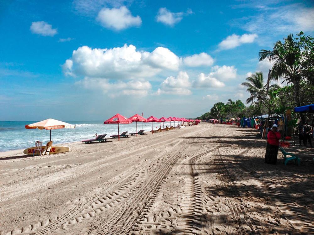 Morning walk on Kuta Beach.