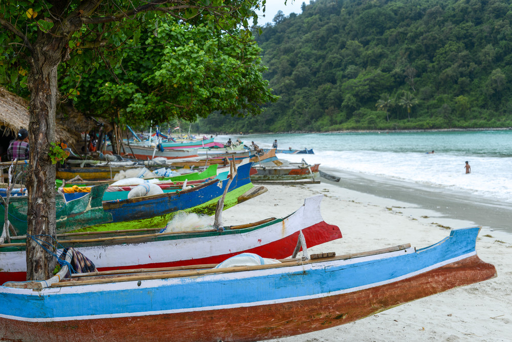 The boats that will take you out to Serangan.