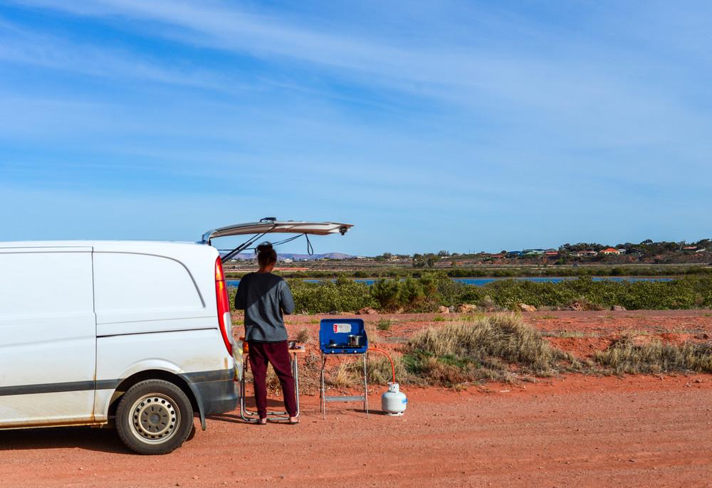 Breakfast in Port Augusta, South Australia.