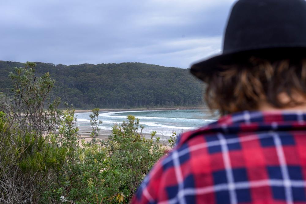 Surf check at North Durras, New South Wales.