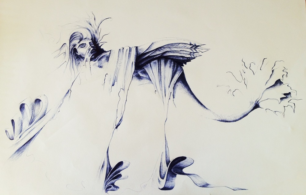 This is just a pen sketch of mine that I wish I had. This one in particular means a lot to me, but its in Mission Beach, FNQ! I had a lot if mixed feelings and I just started drawing... Well, that's what came out. I think I felt a bit trapped and confused. The mermaid with wings all bound up and... Trapped I guess. Haha hard to explain this one, you just had to be in my head.