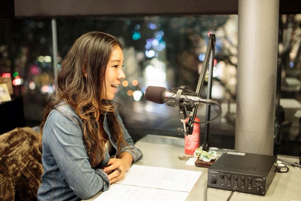Hiromi working her DJ magic.