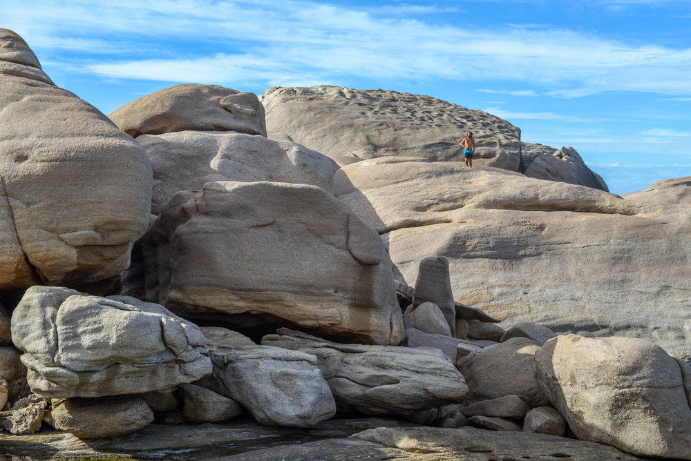 Rock climbing in Esperance, Western Australia.