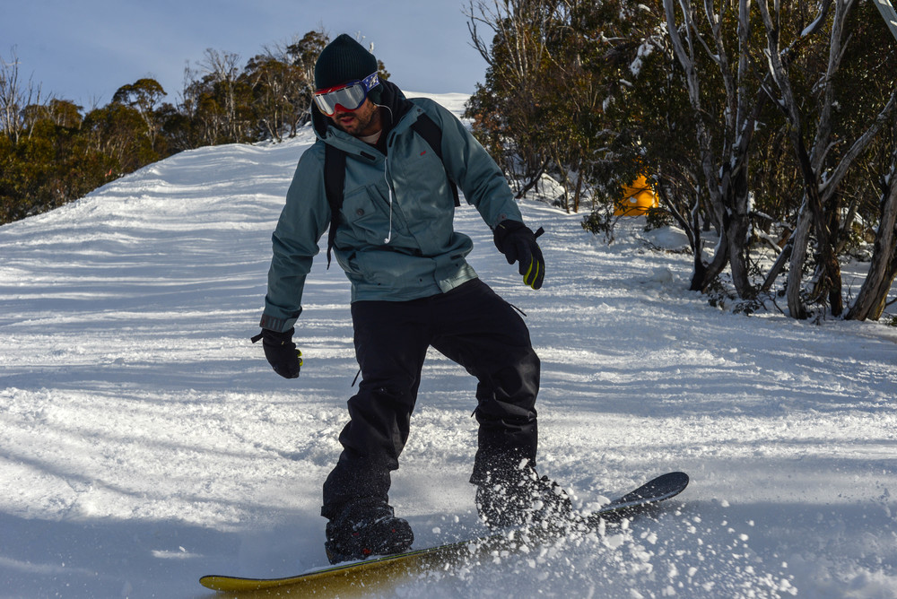 Boarding in Perisher, New South Wales.