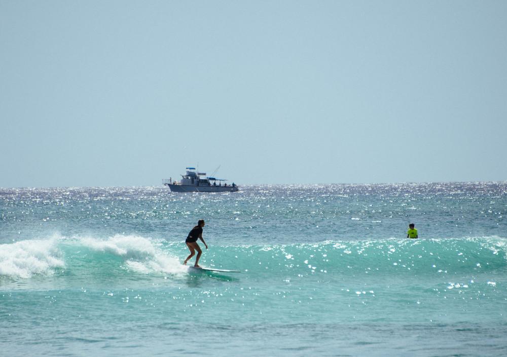 Jess surfing Waikiki