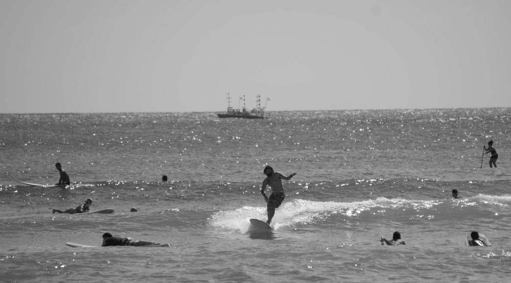 Jonny surfing Waikiki