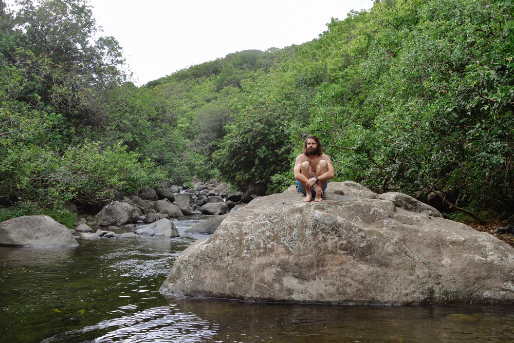 Taking a moment in Iao Valley, Maui.
