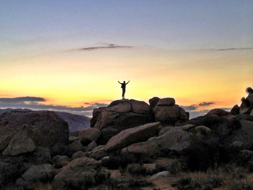 Luke often goes on soul inspiring trips researching ethical and sustainable products. This is a pic from Joshua Tree National Park on his latest trip.
