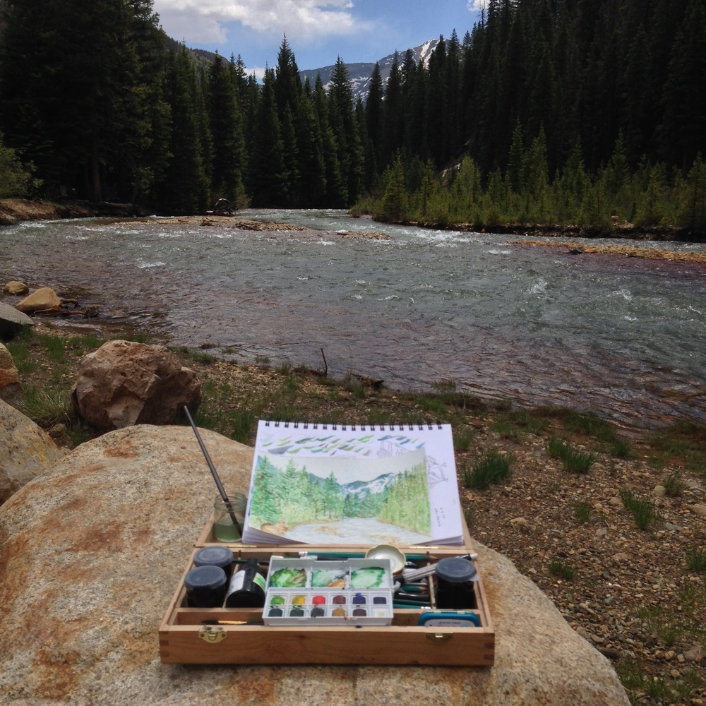 original photograph sketching in Colorado before Camp Illustrated came to fruition