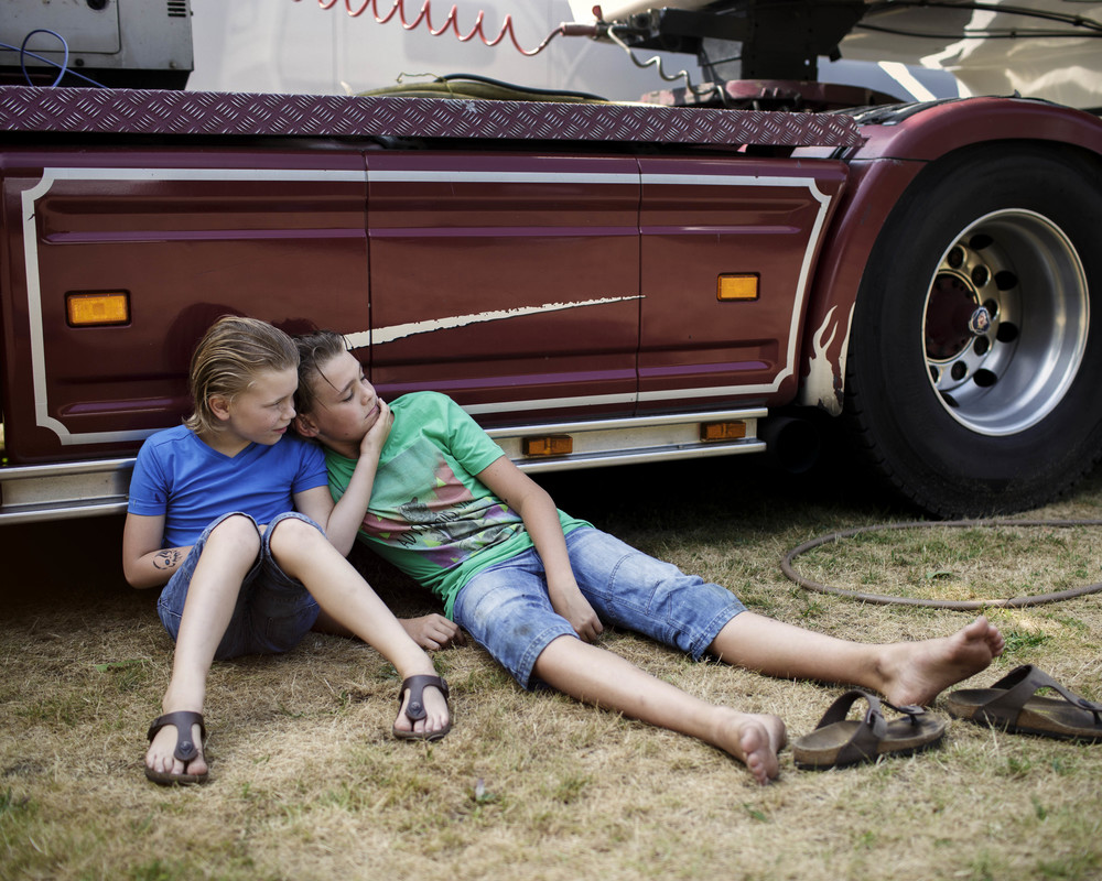 From my series 'The Ferris Wheel Kids'. Louis and Jantje.