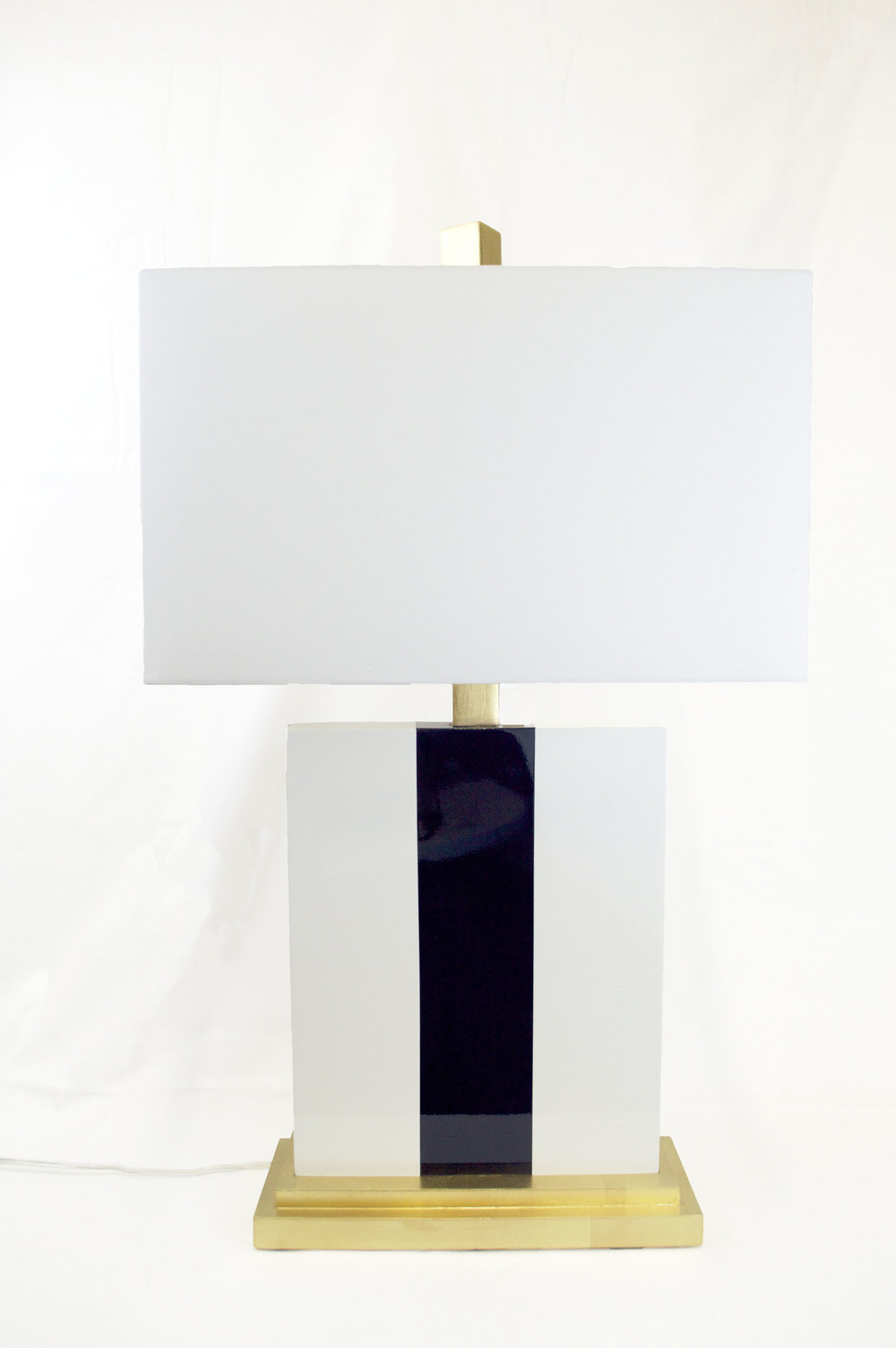 Navy Stripe Lamp - # 12284