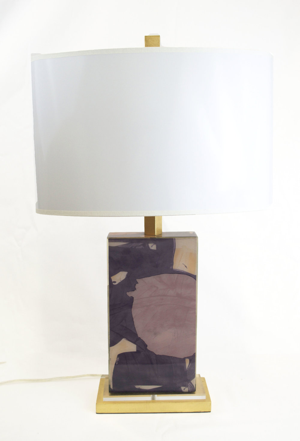 Purple Abstract Lamp - # 12681