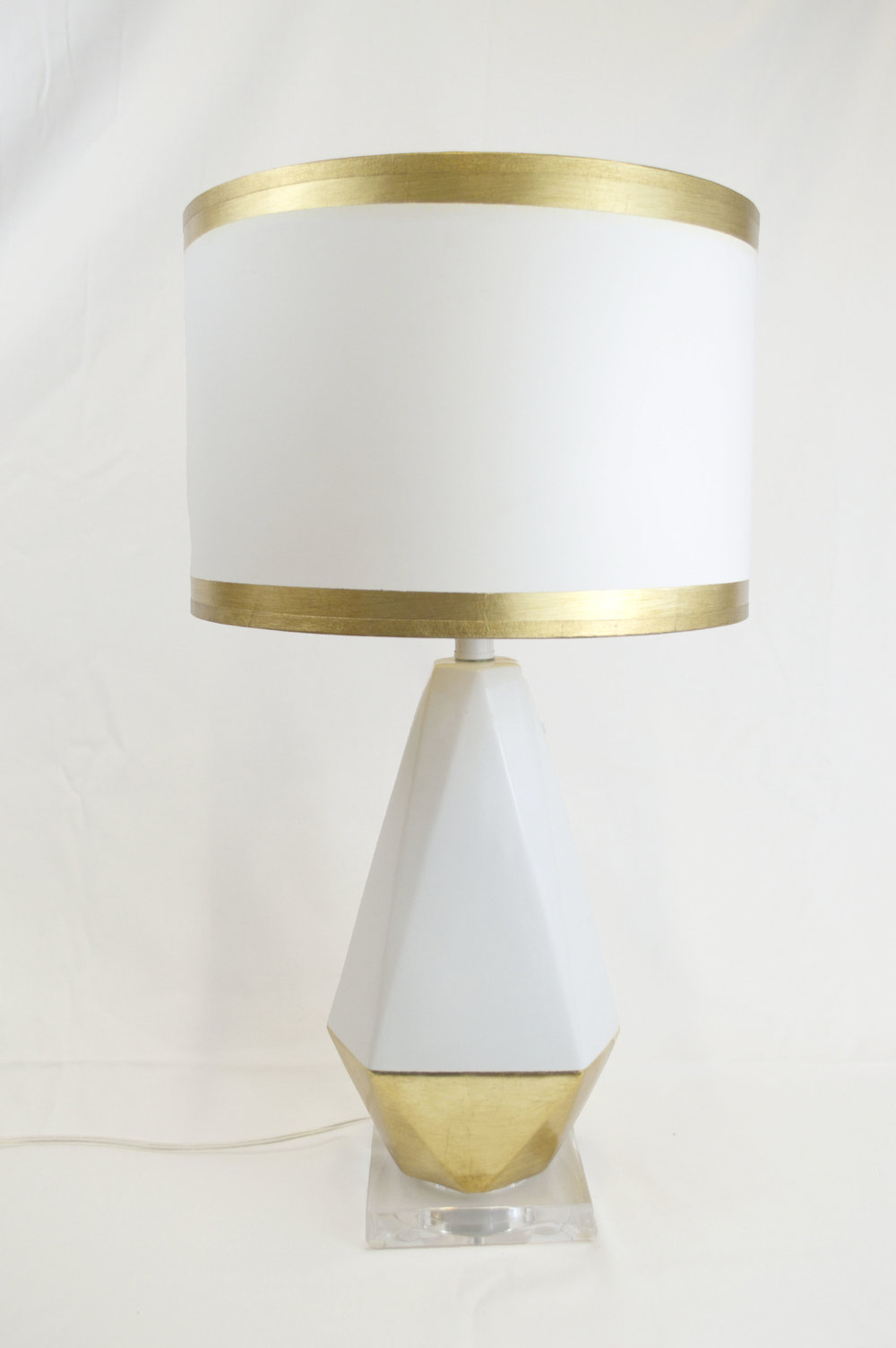White/Gold Lamp - # 13026