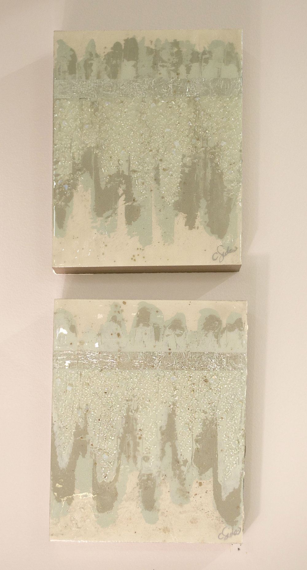 Silver & Gray Painting - # 11291