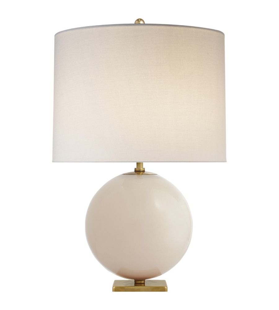 Pink/White Table Lamp - # 11389