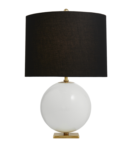 Black/Cream Table Lamp - # 10492
