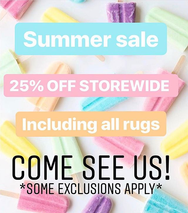 don't miss out on our summer sale!! 25% off STOREWIDE