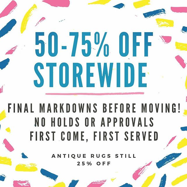 Come see us today and shop our huge store wide sale!