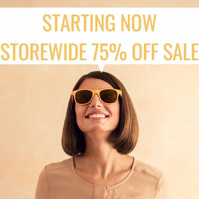 75% OFF STOREWIDE!!! New items added since yesterday - hurry in for your last chance!!