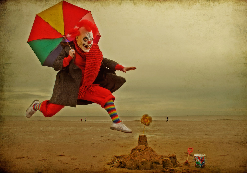 Clown at the Seaside