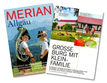 7-seitiger redaktioneller Bericht über Schloss Kronburg.