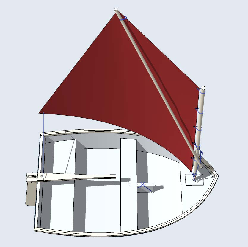 "Trixie  7' 2"" x 4' 6"" Tender / Dinghy"