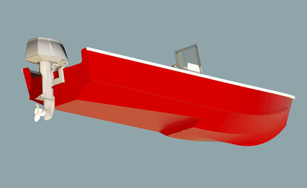 Volare Step Hydroplane Supplement Step hyroplane bottom for use with Console and Utility versions