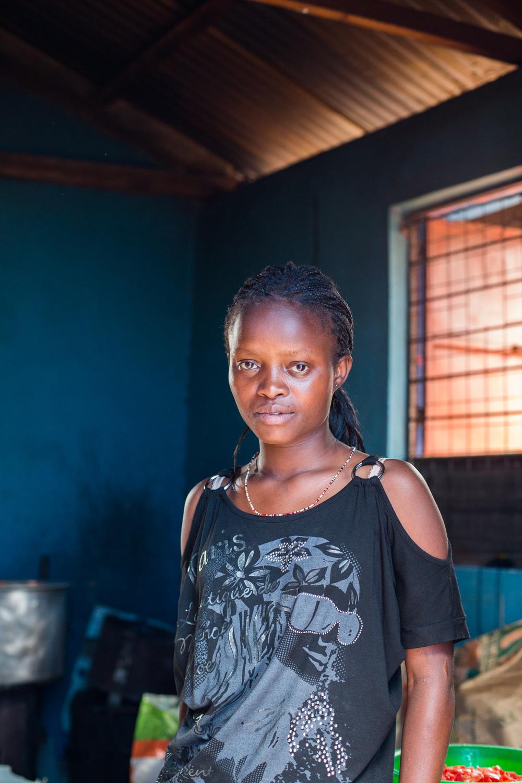 KSG volunteer.  Kibera, Nairobi, Kenya