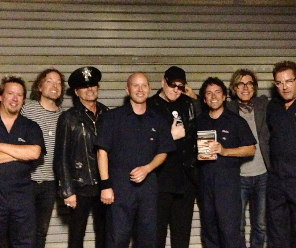 My Two Favorite Bands                   (left to right - Dave Masica, Daxx Nielsen, Robin Zander, Joe Oestreich, Rick Nielsen, Colin Gawel, Tom Petersson, Thomas O'Keefe)