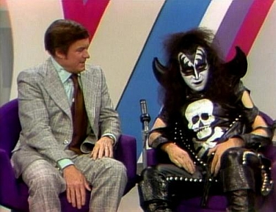 Gene being interviewed by Mike Douglas.