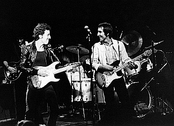 Bruce Springsteen on stage with The Knack.