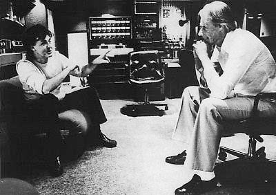 "McCartney with Beatle producer George Martin at work on Tug of War. The two had not worked together since Martin produced the Wings track ""Live and Let Die"" in 1973."