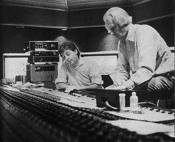 McCartney and Martin working on Pipes of Peace.