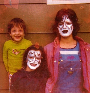 A photo given to me by Cadillac resident David Reiser of his kids dressed up as Kiss for the 1975 visit.