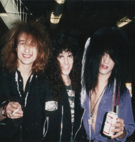 Chip Z' Nuff, myself and Derek Frigo 1990
